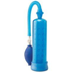 silicone penis pump blue