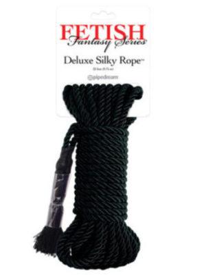 black silky rope