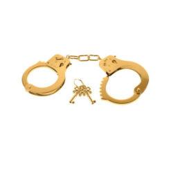 gold metal handcuffs
