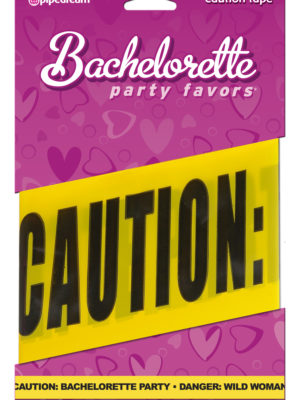 bachelorette caution tape