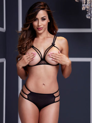 Peekaboo bra and panty set