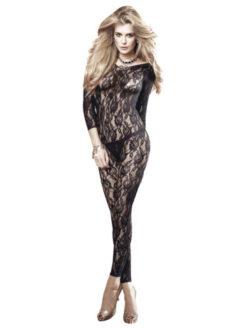 long sleeve lace body stocking