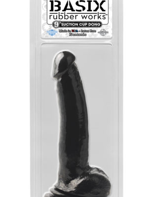 black 9 inch suction cup dong