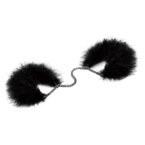 za za zu feather cuffs