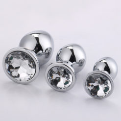 clear jewelled anal plugs