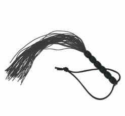 black mini silicone flogger