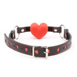 red heart ball gag