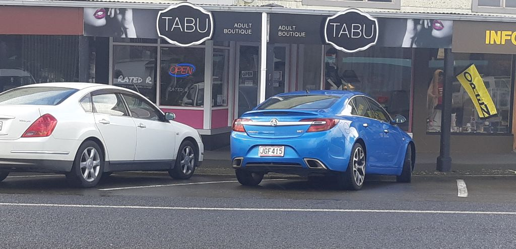 Tabu's store in Eketahuna. Selling sex toys in Napier and beyond!