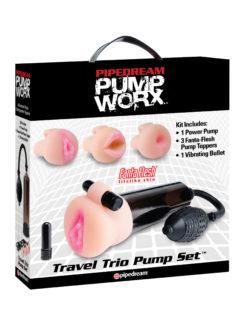 travel trio penis pump set